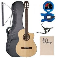 Cordoba-GK-Studio-Gipsy-Kings-Signature-Model-Acoustic-Electric-Nylon-String-Flamenco-Guitar-Bundle-with-Deluxe-Gig-Bag-and-Classical-Accessory-Pack-0