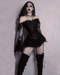 Thanks for the excellent fotos! #yoursblack, #corset  Gothic Outfits, Edgy Outfits, Grunge Outfits, Pretty Outfits, Girl Outfits, Cute Outfits, Fashion Outfits, Alternative Outfits, Alternative Fashion