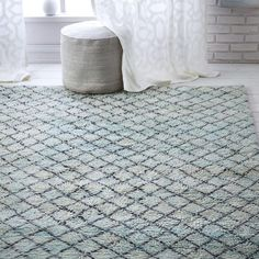 Vines Wool Rug 8 X10 Blue Lagoon Patterns And Living