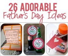 26 Adorable Father's Day Ideas howdoesshe.com #fathersdayideas #cutefathersday #diygiftsfordad