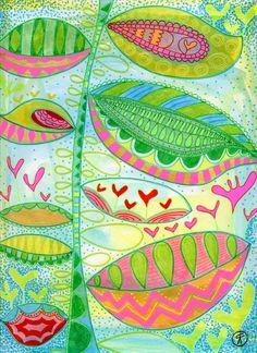 Rachel Fontenot - drawing - ink - pen - brush pen - Gelly Roll - drawing - art