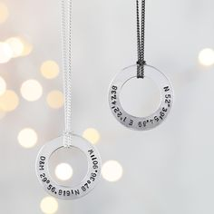 Looking for Valentine's Jewellery for Him? Take a look at this Handmade Men's Necklace with a Personalised Sterling Silver Pendant.