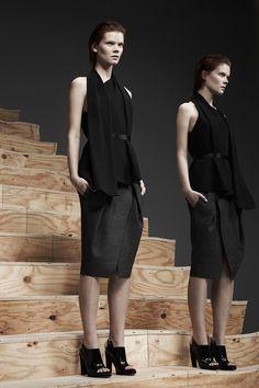 Black Scarf Top Alexander Wang Pre-Fall 2013 #style #fashion