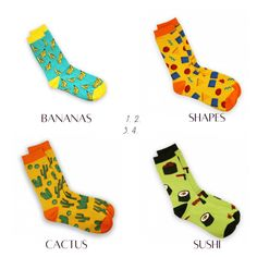 Ranking from 1 to 4, which is your favourite Sockgaim designs?