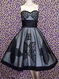Black Strapless Butterfly Dress