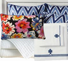 Knight Moves: Quadrille-Inspired Bedding by Z Gallerie?