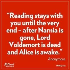 Reading stays with you...