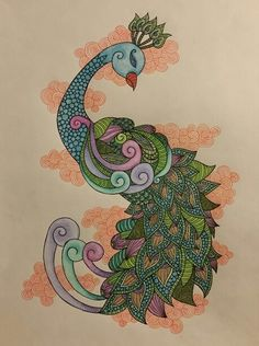 Hand drawn patterned peacock Pen and pencil crayon  2016  LoveandtHeart www.facebook.com/loveandtheart Prints available at www.artpal.com/loveandtheart Pens And Pencils, Hand Drawn, Peacock, How To Draw Hands, My Arts, Facebook, Prints, Pattern, Hand Written