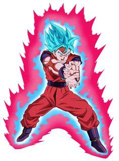 Goku Super Saiyan Blue Kaioken by ChronoFz on DeviantArt Super Saiyan Blue Kaioken, Goku Super, Dragon Ball Z, Goku Blue, Foto Do Goku, Goku Manga, Dragon Super, Hero Poster, Dbz Characters