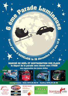 6ème Parade Lumineuse. Grand Place d'Auvelais.  Organisé par:  http://www.binocleclub.be/   Belgium