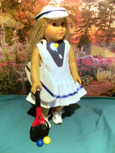 97f6eb968bd2 Tennis Outfit Set for American Girl 18 inch dolls American Girl Julie