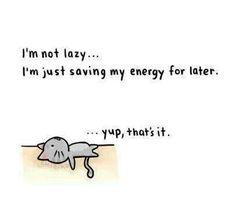 Yep, I'm not lazy. That's it.