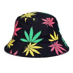 6840e18b2dd Weed Bucket Hat Multiple colors hat 420 Hat Men