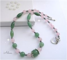 Aventurine and Rose Quartz Necklace £12.95
