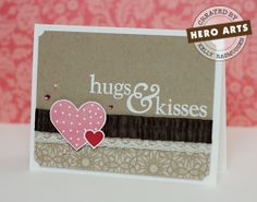 love / Valentine's Day card by Kelly Rasmussen for Hero Arts