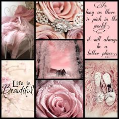 Life is Beautiful as long as there is pink in the world collage quotes Beautiful Collage, Life Is Beautiful, Colour Schemes, Color Trends, Pink Love, Pretty In Pink, Collages, Color Collage, Mood Colors