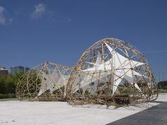 pulse pavilion bamboo sculpture by the university of st. joseph