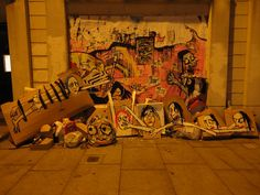 Art is Trash Street Art - Francisco de Pájaro Street Art