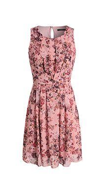 Esprit / Feines Chiffon-Kleid mit Blütendruck
