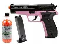 SIG Sauer P226 Airsoft Pistol Kit, Pink/Black: Licensed Product, 2700 BBs, 2 Magazines #AirGuns #AirSoftGuns #AirGunAccessories
