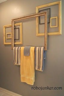 "Throw in the Towel! Say ""NO"" to Pricey Bath Accessories! (AKA Low-Budget & DIY Towel Rack Options) - Heathered Nest"