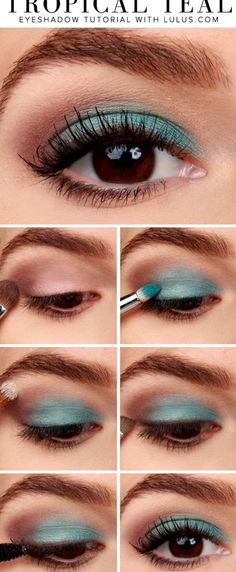Tropical Eyeshadow Look