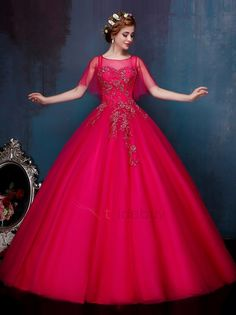 Read more about quinceanera dresses! Include a belt to create a bit color or even an accent piece. You can get a belt imaginable. Robes Quinceanera, Cheap Quinceanera Dresses, Beautiful Long Dresses, Pretty Dresses, Ball Gown Dresses, Bridal Dresses, Gown Dress Online, Indian Wedding Gowns, Fantasy Gowns