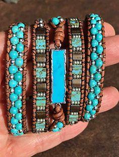 Boho Leather Wrap Bracelet, Raspberry Turquoise, Sterling Silver Bracelet - Bracelets I Love - Pandora Bracelets, Sterling Silver Bracelets, Silver Necklaces, Beaded Bracelets, Silver Jewelry, Jewelry Necklaces, Bangles, Boho Jewelry, Antique Jewelry