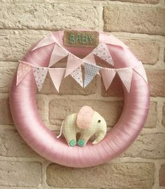 BABY WREATH Room Nursery Wreath Pink Decor by sistersdreams, £19.00