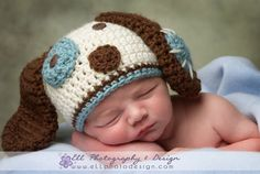 Crochet Puppy Dog Hat Photography Prop by cherlynnephotography, $16.00