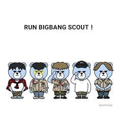 Bigbang Gd Bigbang, Daesung, Bigbang Krunk, G Dragon, Random Stuff, Fan Art, Bear, Kpop, Babies
