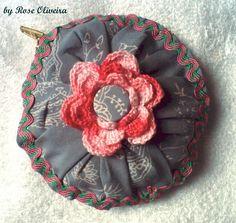 Tecendo Artes em Crochet: Mais Porta-Moedas de Fuxicão