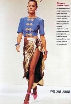 Nadege du Bospertus Yves Saint Laurent S/S 1993