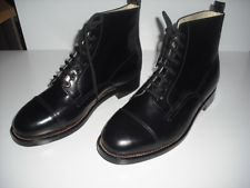 Ladies black leather Police Boots by Transport, NEW
