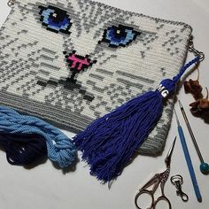 gifts for cats Wayuu Clutch Modelleri 80 - Crotchet Bags, Crochet Kids Scarf, Crochet For Kids, Crochet Handbags, Crochet Purses, Crochet Shoes Pattern, Crochet Patterns, Mochila Crochet, Bag Pattern Free