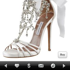 Bridal Tabitha Simmons Gorgeous Jeweled Ankle tie Sandals