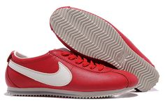 Now Buy Hot Nike Cortez Leather Women Shoes Dark Red White Save Up From Outlet Store at Footlocker. Nike Shox Nz, Nike Roshe Run, Michael Jordan Shoes, Air Jordan Shoes, Nike Cortez Vintage, Nike Cortez Leather, Nike Air Max, Nike Shoes, Sneakers Nike