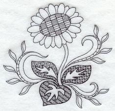 Sunflower (Blackwork)