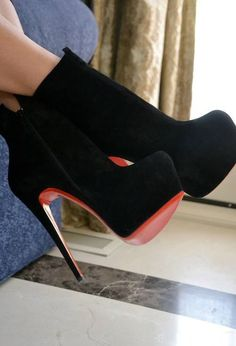 Website For Discount Christian Louboutin Daf Booty 160mm Ankle Boots Black! Super Cute! Check It Out!