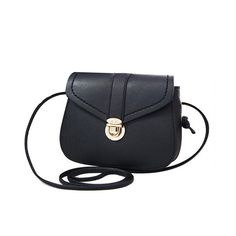 Solid Color Push Lock Crossbody Bag (125 CAD) ❤ liked on Polyvore featuring bags, handbags, shoulder bags, cross body, crossbody purse, crossbody handbags and crossbody shoulder bags