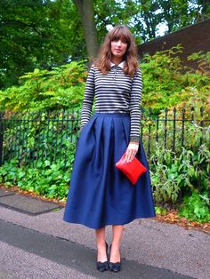 A pleated skirt is the epitome of feminine style and should have a place in every wardrobe.