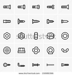 Screws and nuts icons by Denis Barbulat, via Shutterstock
