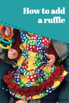 Check out this tutorial to learn how easy it is to add ruffles to your dresses, shirts etc. Baby Clothes Patterns, Baby Patterns, Clothing Patterns, Sewing Blogs, Sewing Tips, Sewing Hacks, Onesie Pattern, Baby Pants Pattern, How To Make Clothes