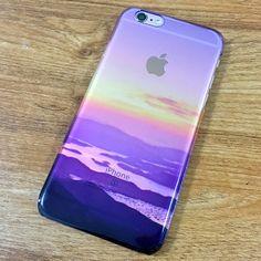 Sunset Mountain Landscape iPhone 6 Case, iPhone 6s clear Case iPhone 6s Plus Transparent Case, Galaxy S6 Edge Case C091