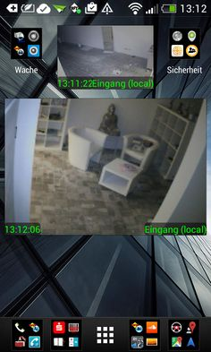 2012/2013 Kunde Videoüberwachungs Installation #Videoüberwachung via #SMARTPHONE