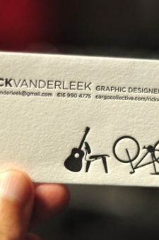photographing work. letterpress. business card