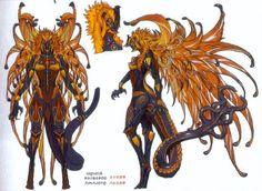 final fantasy xiii concept art first form Final Fantasy Collection, Final Fantasy Art, Fantasy Concept Art, Game Concept Art, Monster Characters, Fantasy Characters, Female Character Design, Character Art, Fantasy Creatures