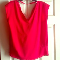 My favorite RED blouse! Worn very few times as well...a beautiful RED blouse. Hangs low in the back, and always looks good :) KUT Tops Blouses