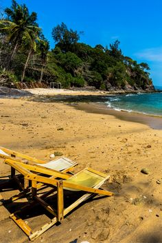 Our own private beach at the Crown Lanta Resort in Koh Lanta, Thailand.