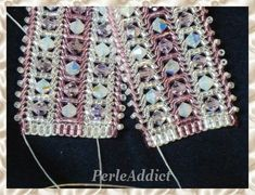 Seed bead jewelry * Ande Braclet - Herring bone with inserts ~ Seed Bead Tutorials Discovred by : Linda Linebaugh Beaded Jewelry Designs, Seed Bead Jewelry, Handmade Jewelry, Seed Beads, Beading Tutorials, Beading Patterns, Woven Bracelets, Bijoux Diy, Bracelet Patterns